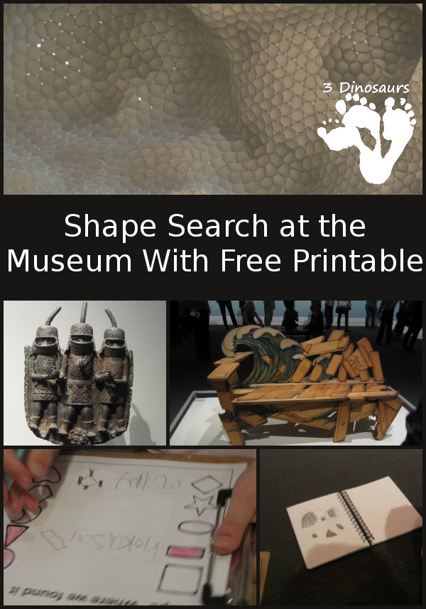 Museum Shape Search with Free Printable - 3Dinosaurs.com
