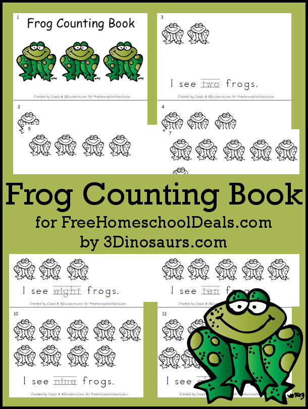 Free Frog Counting Book - 3Dinosaurs.com