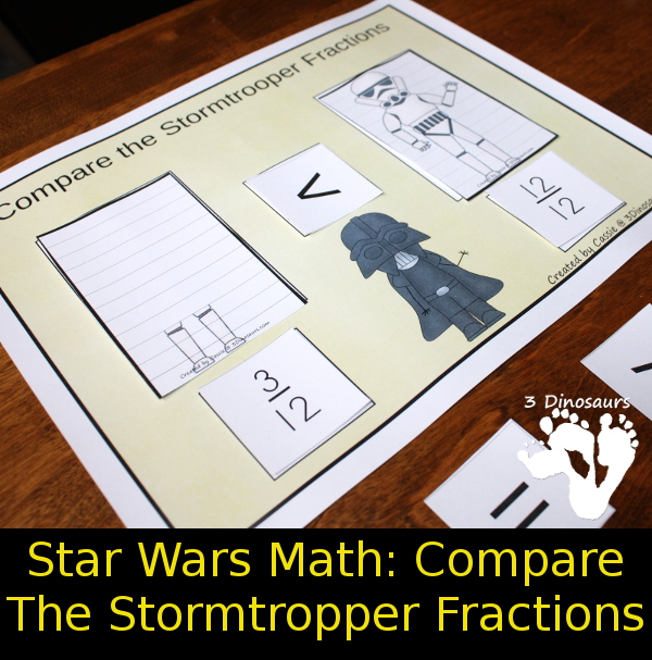 Free Star Wars Math: Comparing Stormtrooper Fractions - 3Dinosaurs.com