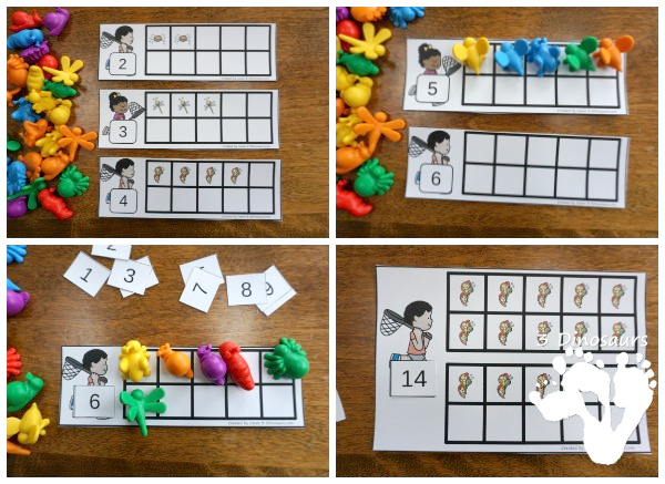 Bug Themed Ten Frame Printables: No-Prep & Hands-On - 82 pages of printables working on ten frame activities for numbers 1 to 20 with hands-on and no-prep: cards, worksheets and easy reader books - 3Dinosaurs.com #handsonmath #teacherspayteachers #tenframe #springprintablesforkids #printablesforkids