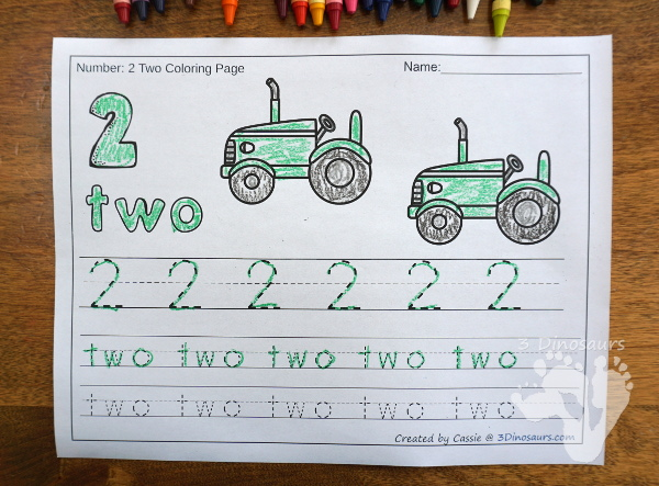 Farm Themed Number Color and trace two optoins with numbers 0 to 20 - 3Dinosaurs.com
