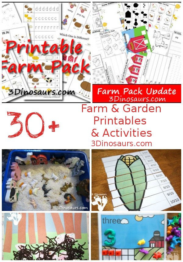30+ Farm & Garden Themed Activities & Printables - 3Dinosaurs.com
