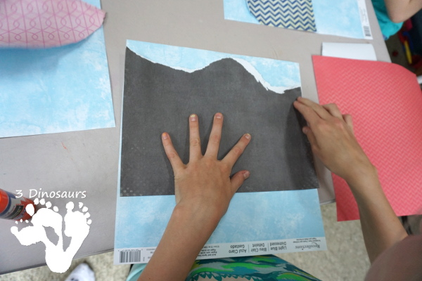 Great Fine Motor Craft: Torn Paper Nature Scene - fun art project that almost any age can do. - 3Dinosaurs.com