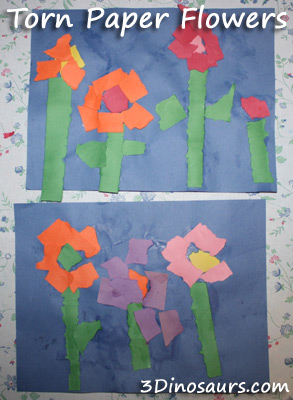 Torn Paper Flowers