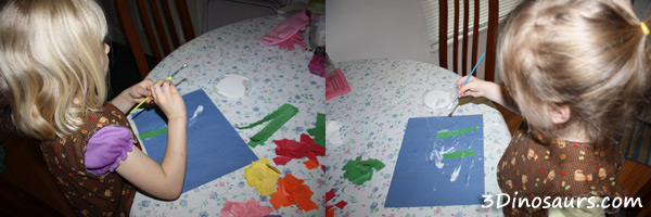 Torn Paper Flowers