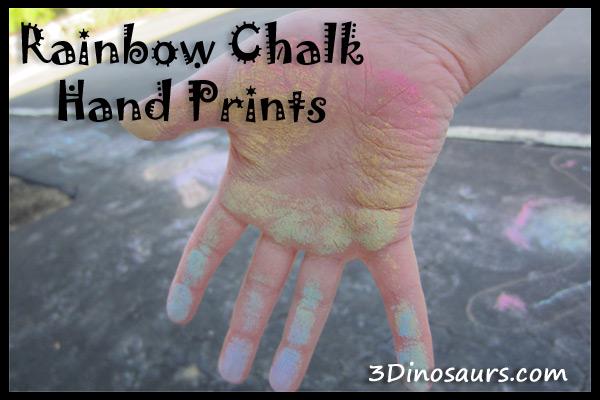 Rainbow Chalk Hand Print