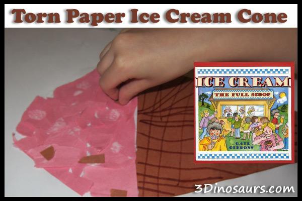 Torn Paper Ice Cream Cone