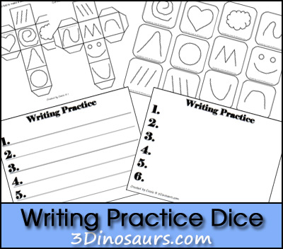 Writing Practice Dice