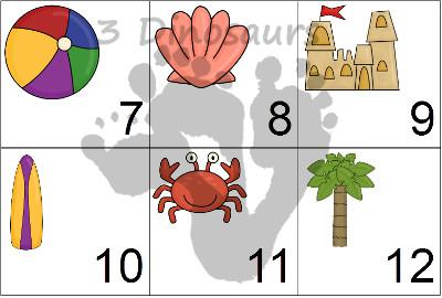 Free Beach Calendar Set- 3Dinosaurs.com
