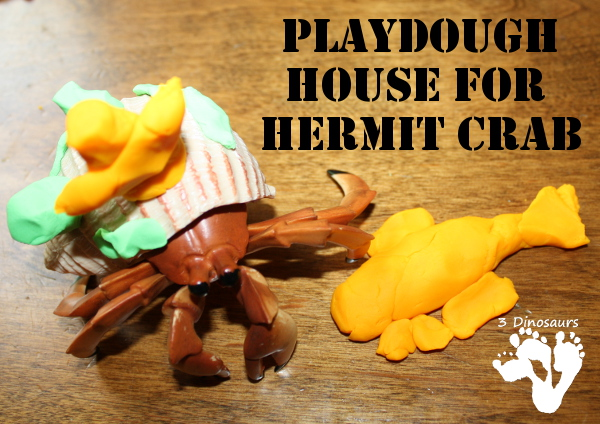 Playdough House for Hermit Crab - 3Dinosaurs.com