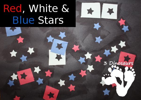 Red, White & Blue Star Craft - 3Dinosaurs.com