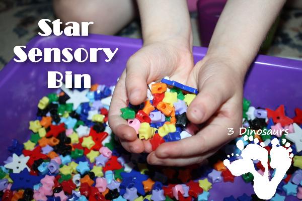 Star Sensory Bin - 3Dinosaurs.com