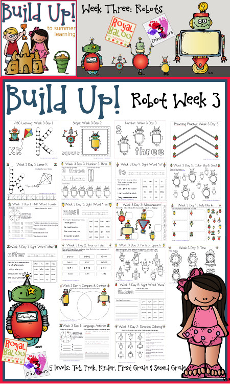 Build Up Summer Learning: Week 3 Robot - 3Dinosaurs.com