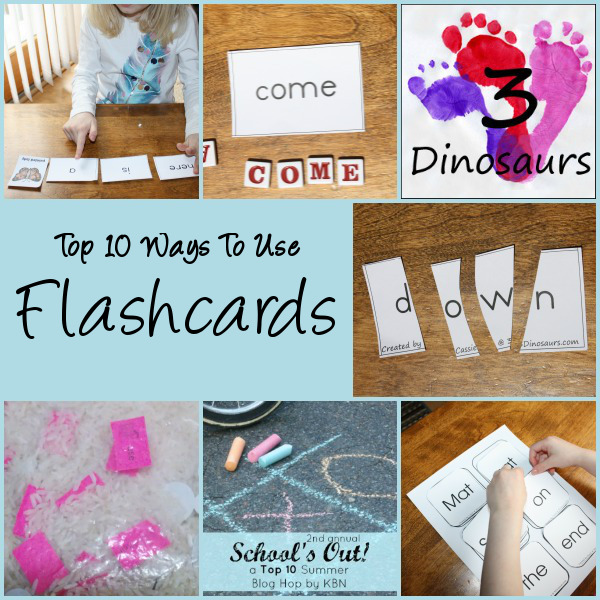 Top 10 Ways to Use Flashcards - 3Dinosaurs.com
