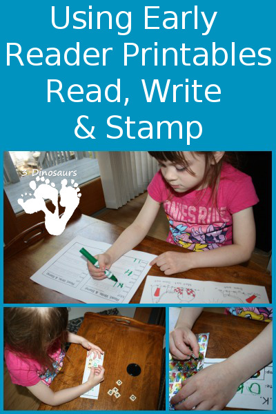 Using Early Reader Printables: Read, Write, & Stamp