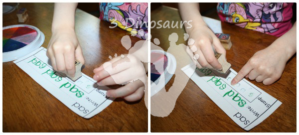 Using Early Reader Printables: Read, Write, & Stamp - 3Dinosaurs.com