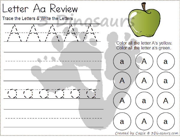 Worksheets Tracing Abc free abc tracing dot find printable 3 dinosaurs 3dinosaurs com
