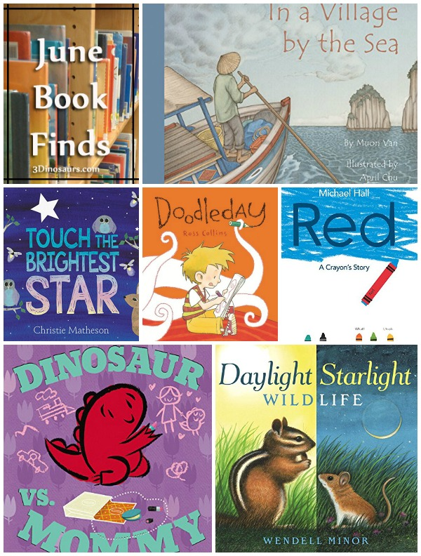 June 2015 Book Finds: crayons, dinosaurs & moms, animals, coloring, night time & stars - 3Dinosaurs.com
