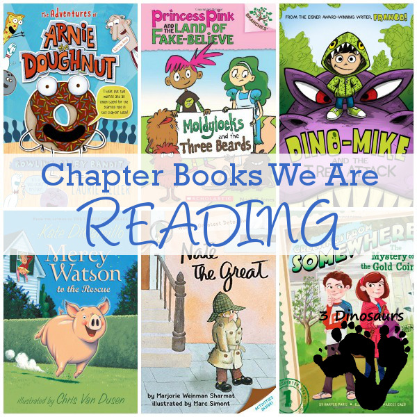 Chapter Books We Are Exploring Summer 2015: The Adventures of Arnie the Doughnut, Mercy Watson, Dino-Mike, Nate the Great, Princess Pink and the Land of Fake-Believe, Greetings From Somewhere
