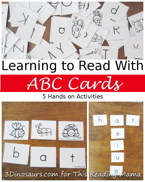 Using Printables: Learning To Read With ABC Cards