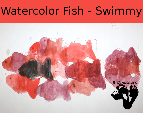 Watercolor Fish - Swimmy - 3Dinosaurs.com