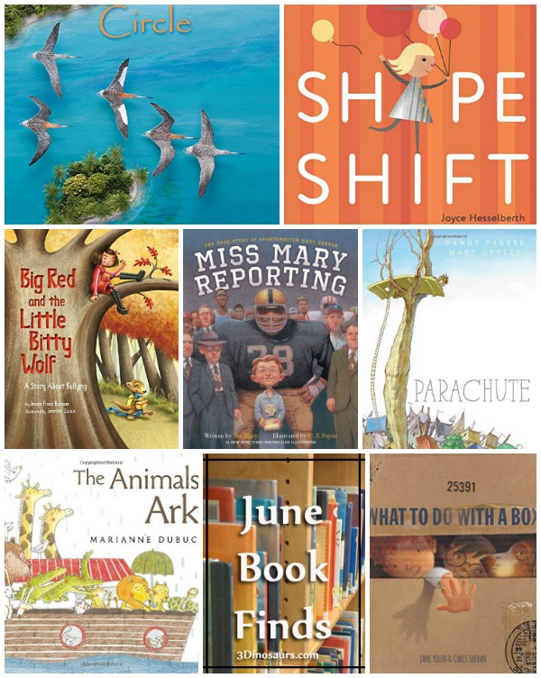 June 2016 Book Finds: birds, Noah's Ark, animals, shapes, box, fear of heights, women report in the 40s, bullies and birds - 3Dinosaurs.com
