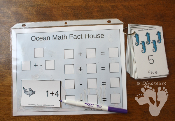 Ocean Daily Number & Math For the Summer -  - 3Dinosaurs.com