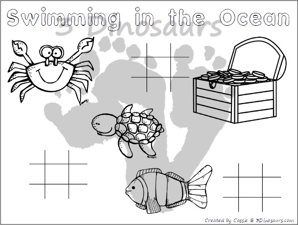 Free Ocean Themed Placemats - 4 different mats to pick from - 3Dinosaurs.com