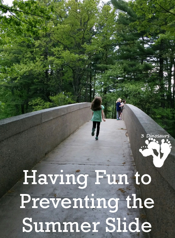 Having Fun to Prevent the Summer Slide - simple and easy ways you can help prevent the summer slide - 3Dinosaurs.com