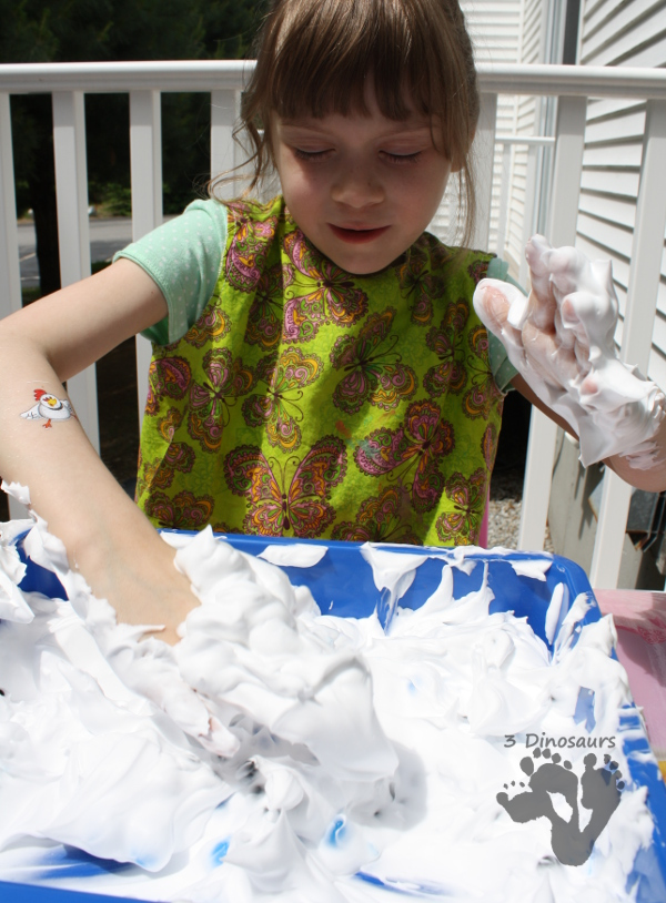 Easy Sensory Fun: Water Beads in Shaving Cream - 3Dinosaurs.com