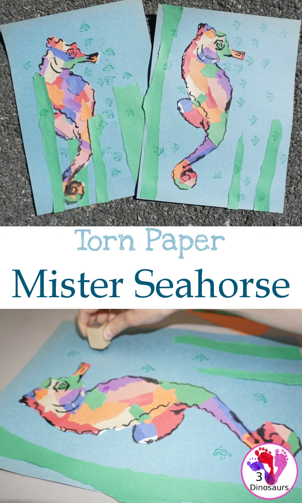 Torn Paper Mister Seahorse - 3Dinosaurs.com