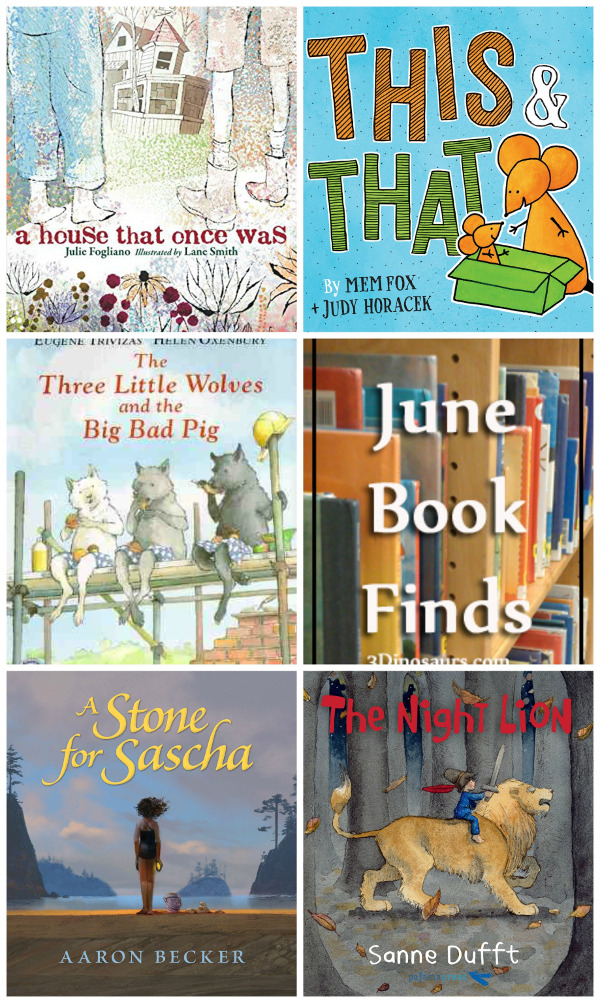 June 2018 Book Finds: mystery, old houses, nightmares, bedtime, rhyming books, wordless book, nursery rhymes - 3Dinosaurs.com