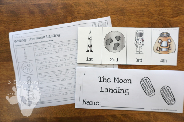 Space Sequencing Sets -  with clip cards, task cards, no-prep worksheets and easy reader books $ - 3Dinosaurs.com #printablesforkids #sequencingforkids #summerprintables #spaceprintables #tpt #teacherspayteachers