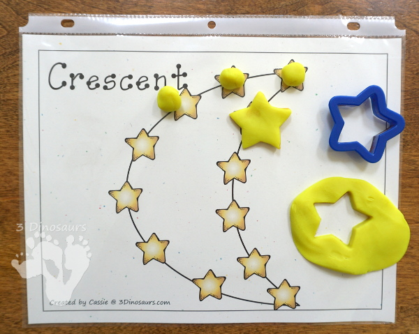 Free Star Themed Shape Playdough Mat - 10 fun shape mats with a stars that is great for a space themed shape center  - 3Dinosaurs.com
