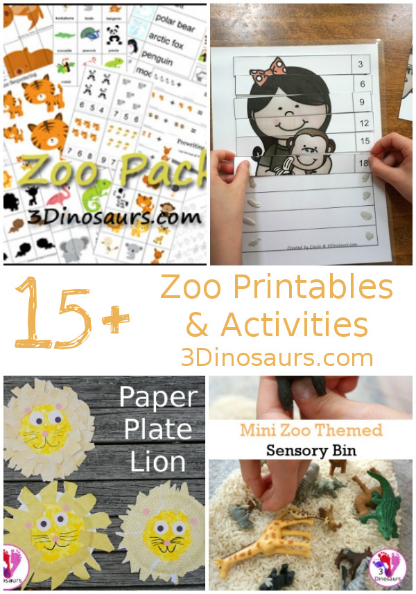 15+ Zoo Printables & Activities - printables, crafts, hands-on activities and more -3Dinosaurs.com