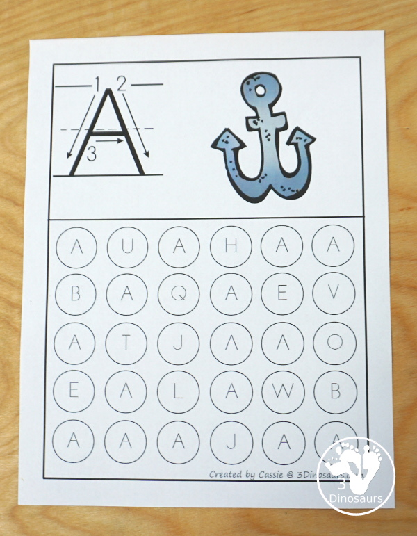 Free ABC Letter Find Uppercase Or Lowercase 3 Dinosaurs