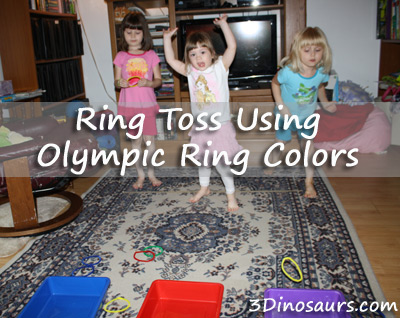 Ring Toss Using Olympic Ring Colors