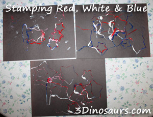 Red, White, and Blue Stamping