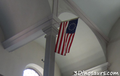 American Flag in Old North Church