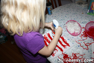 Yarn American Flag