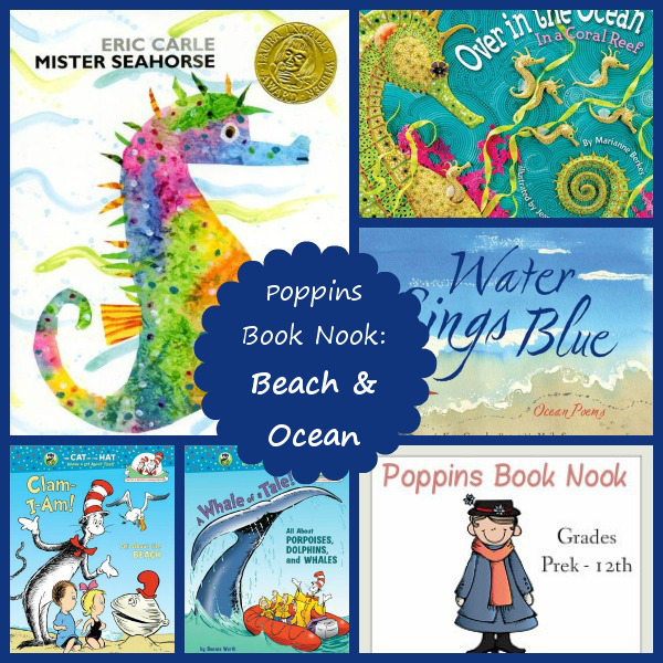 July Poppins Book Nook: Beach & Ocean - 3Dinosaurs.com