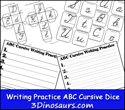 Writing ABC Dice Cursive