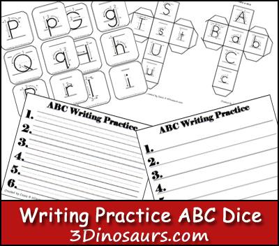 Writing ABC Dice