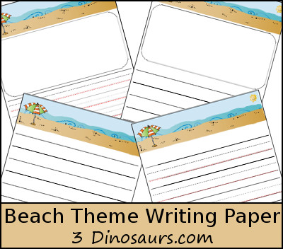 Free Beach Themed Writing Paper