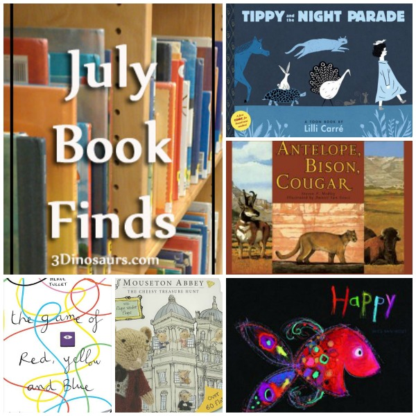 July 2014 Book Finds - animals, lift the flap, ocean, emotions, & abcs - 3Dinosaurs.com
