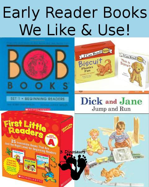 Early Reading Books We Like & Use - 3Dinosaurs.com