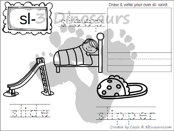 free blends coloring pages sk sl sm sn 3 dinosaurs. Black Bedroom Furniture Sets. Home Design Ideas