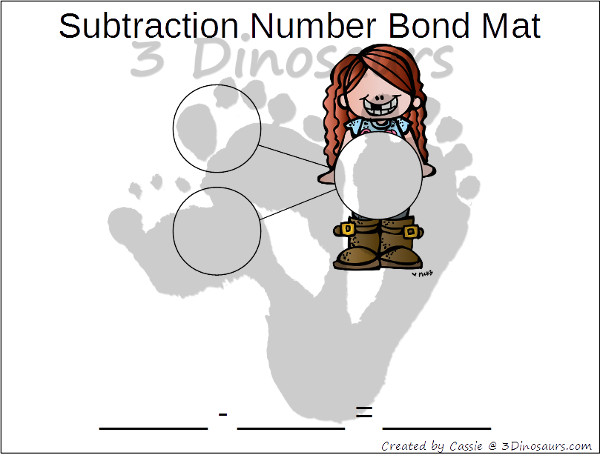 Free Math Number Bond Mats: Addition & Subtraction - 3Dinosaurs.com