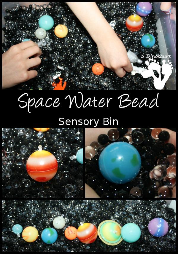 Space Water Bead Sensory Bin - 3Dinosaurs.com