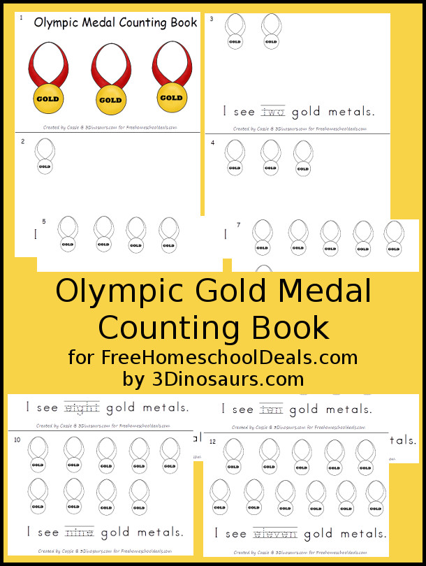 Free Olympics Medal Counting Book - 3Dinosaurs.com